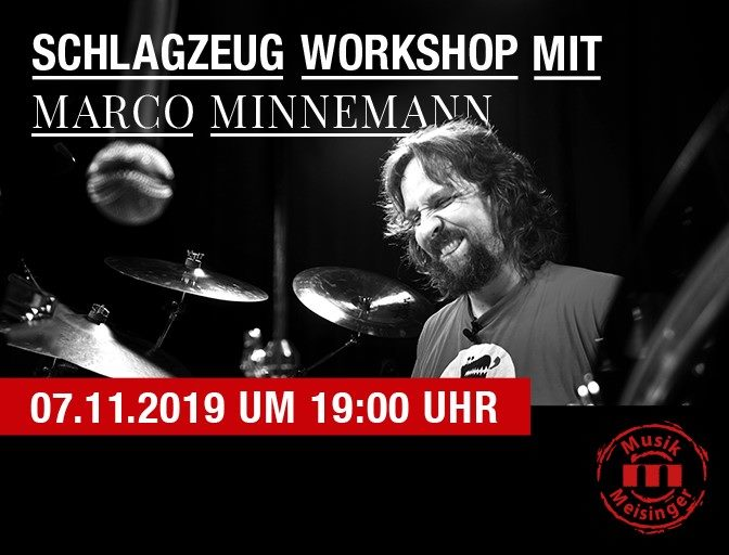 Marco Minnemann Drum-Clinic in Burghausen 7.11.2019